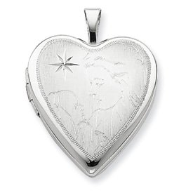 Genuine IceCarats Designer Jewelry Gift Sterling Silver 20Mm Mother And Baby Heart Locket