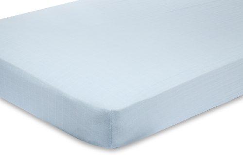 Imagen de aden + anais 100% Hoja de muselina de algodón Cuna, Liam the Blue Brave bebé Solid