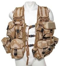 British Army Issue Desert Tactical Load Carrying Vest