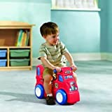 Little Tikes Rock & Scoot Fire Truck with base