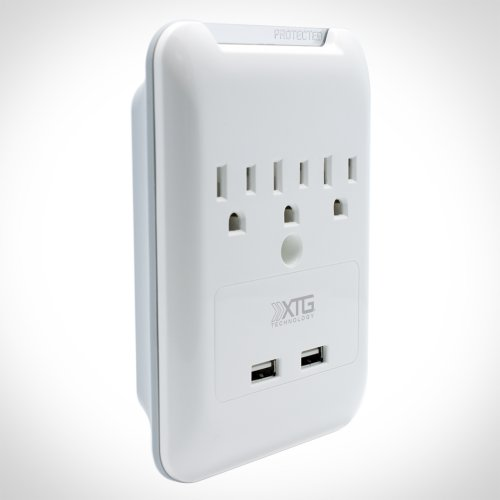 Power Outlet with 2 USB Charging Ports