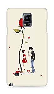 Amez designer printed 3d premium high quality back case cover for Samsung Galaxy Note 4 (Love roses under)