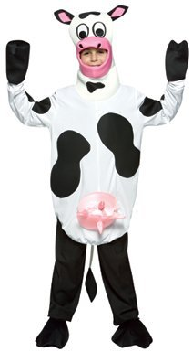 [Light Weight Cow Child Halloween Costume Size 7-10] (Cow Hooves Costume)