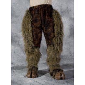 Beast or Goat (Satyr) Legs (Brown) Fur Leggings Adult Costume Accessory