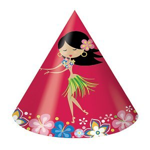 Let's Hula Cone Hats (8 count) - 1