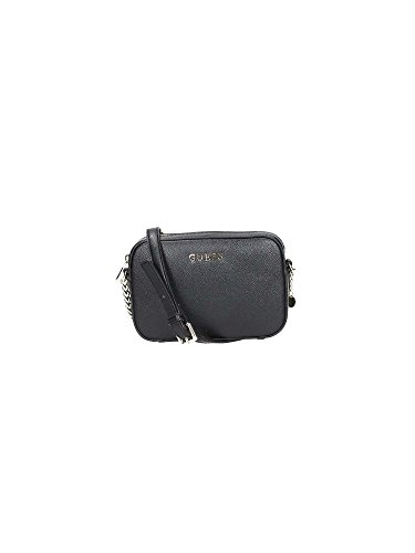 Guess Isabeau Mini Crossbody Top Zip Borsa a Spalla, Donna, Nero