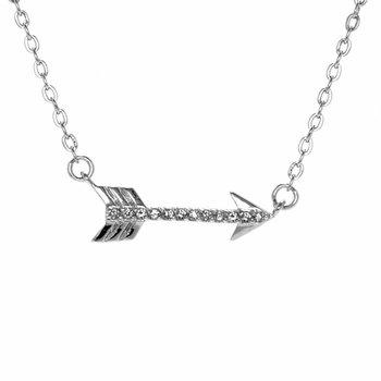 Katniss' Hunger Games Inspired Sideways CZ Arrow Charm Necklace