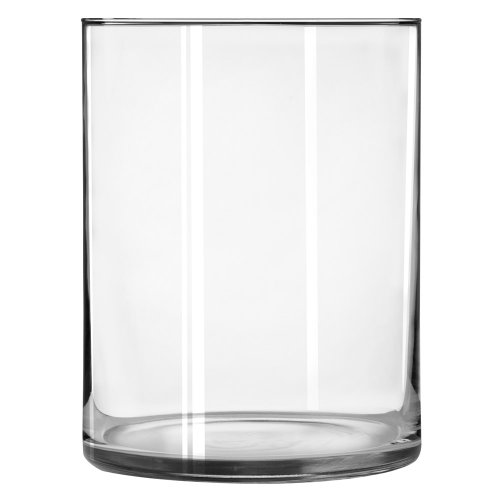Libbey Cylinder Vase 8 X 6 12 Inch Clear Set Of 2 Home Garden Decor Vases