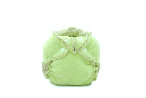 Kissaluvs Cotton Fleece Fitted Diaper, Lime Green, 0 - Newborn 5-15Lbs front-244948