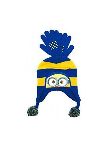 Minions Knit Hat and Gloves Set (Minions Movie: Minion Kevin Adult Costume)