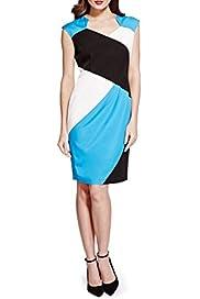 Speziale Petite Colour Block Shift Dress with Modal [T62-6049H-S]