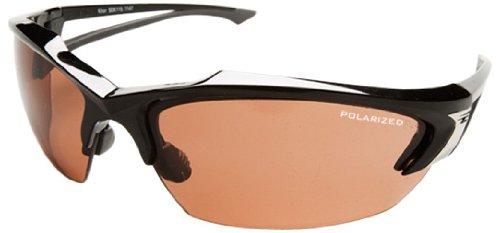 "Edge Eyewear TSDK215 Khor Safety Glasses, Black with Polarized Copper ""Driving"" Lens"