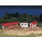 Bachmann Trains Farm Buildings with Animals