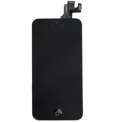 Amh Pre-Assembled Replacement Touch Screen Digitizer + Lcd Display & Lcd Shield Plate + Spares Parts (Front Camera + Home Button + Earpiece Speaker) For Iphone 5C (Black)