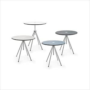 ZACK 50771 ACRON side table, lightgrey ;veriable height