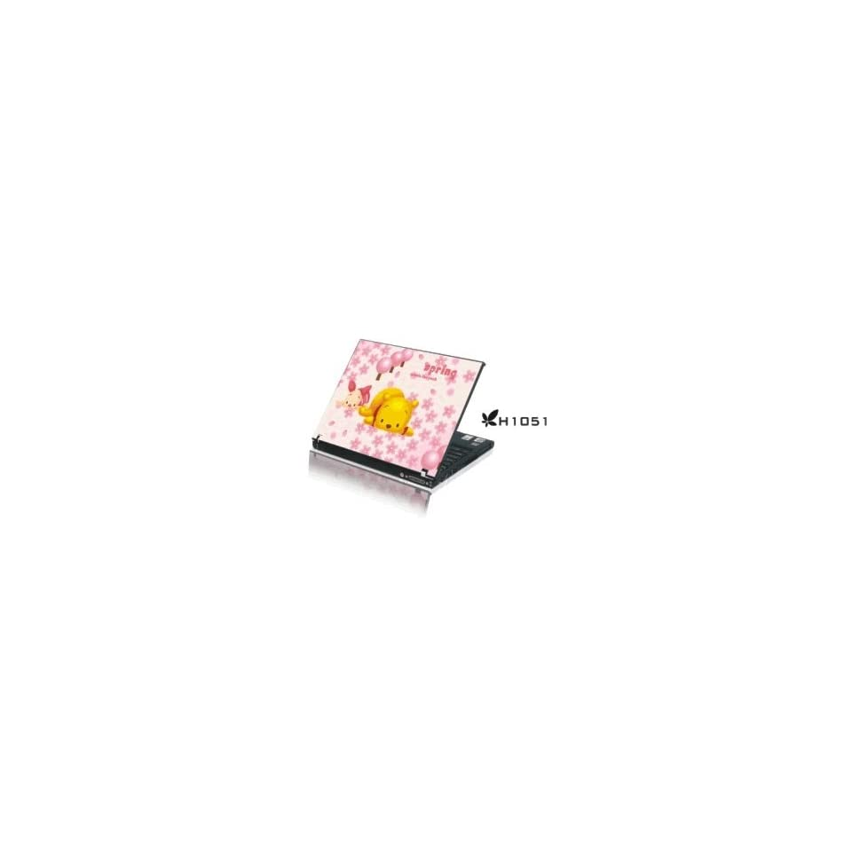 15.4 Laptop Notebook Skins Sticker Cover H1051 Pooh & Piglet (Brand New with 2 FREE touch pad decals)