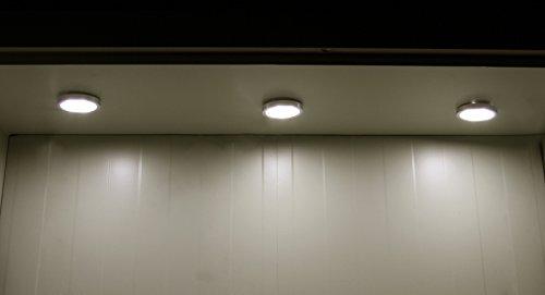 OTTFF Brightest 6w LED Under Cabinet Lighting, Puck Lights, Battery-operated  Wireless PIR Motion Sensor LED Night ...