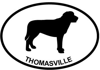 laborador-thomasville-euro-oval-bumper-sticker