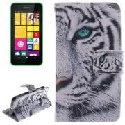 Tiger Pattern Double print Leather Case with Holder Card Slot Wallet for Nokia Lumia 530
