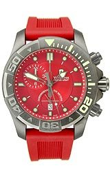 Victorinox Swiss Army Dive Master 500 Chrono Red Dial Men'swatch #241422