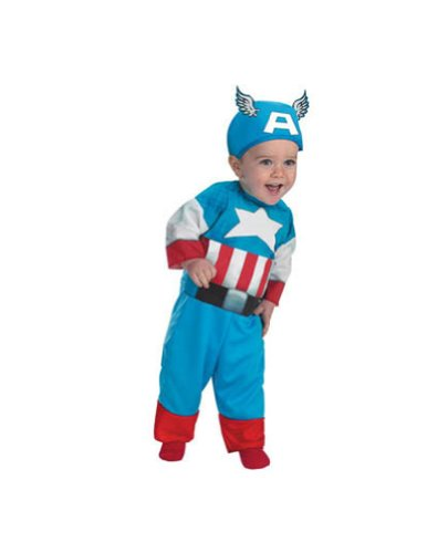 Captain America Toddler Costume 12-18 Months - Toddler Halloween Costume