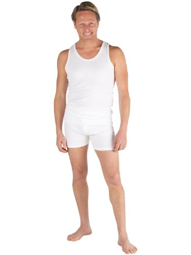 Set Of 3 Mens Underwear 100% Cotton, Sleeveless Vest & Trunks, Various Sizes