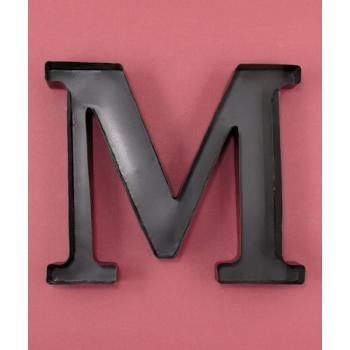personalized letter m metal wall wine cork holder monogram