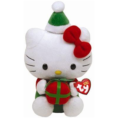 Imagen de Ty Beanie Babies Hello Kitty con el presente
