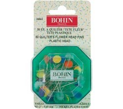 Bohin Quilter's Flower Head Pins Assorted Colors-2