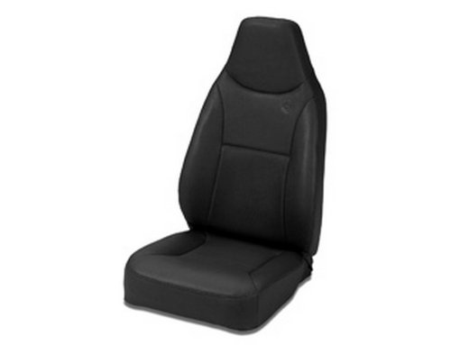 Bestop 39436-01 TrailMax II Black Crush Front High Back All-Vinyl Fixed-back Single Jeep Seat for 76-06 Jeep CJ and Wrangler (Jeep Wrangler Seats compare prices)