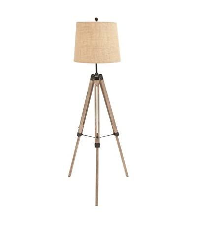 Wood & Metal 1-Light Tripod Floor Lamp, Natural