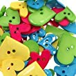 20gm Bright Heart Shaped Button Mix. Different shapes, sizes and colours. Craft / Sewing / Quilting / Patchwork / Jewellery Making.