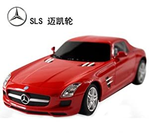 1/24 Scale Radio Remote Control Model Car Mercedes-Benz SLS AMG R/C (Red) by Midea Tech