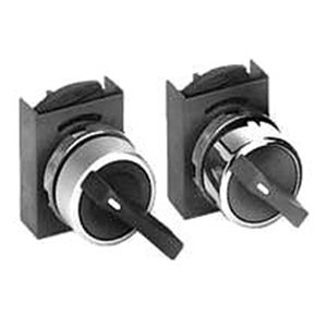 Selector Switch, 22mm, 3Pos, Blk Knob