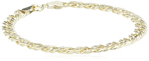 Carissima Gold Double Curb 9 ct Yellow Gold Bracelet of 18.5 cm/7.25 inch