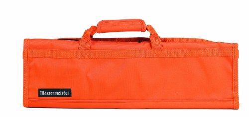 Messermeister 8-Pocket Padded Knife Roll, Orange