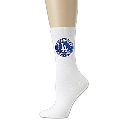 Los Angeles Dodgers MLB Baseball Crew Socks For Men And Women White