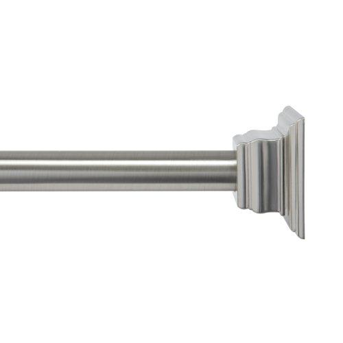Kenney Claire Tension Shower Curtain Rod Brushed Nickel New Ebay
