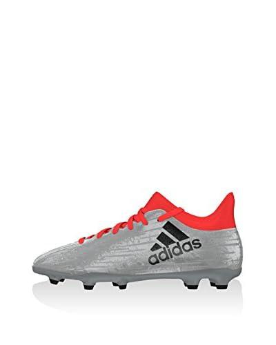 adidas Zapatillas de fútbol X 16.3 FG J Plata