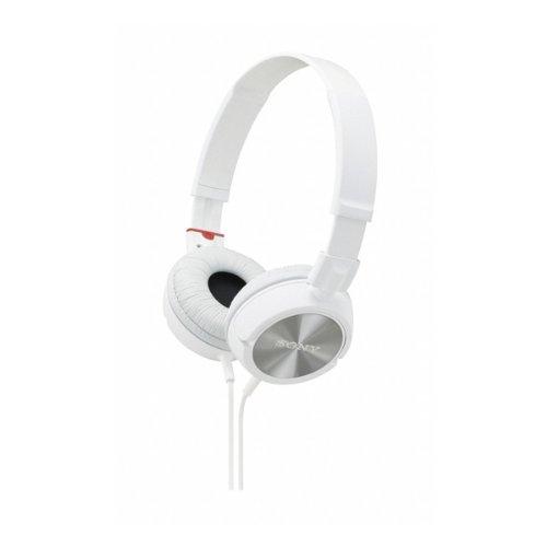Sony MDR-ZX300W Modische Monitor Stil, Ear Kopfhörer für iPod, iPhone, MP3 und Smartphone, geräuschisolierend, Weiß weiß