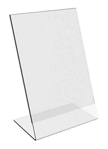 6 pack 8 x 10 clear acrylic slant back ad sign holder plastic slanted picture photo. Black Bedroom Furniture Sets. Home Design Ideas