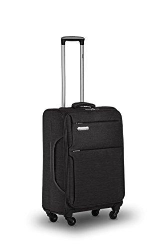 Trolley da-Italiana. Design, 75x 48x 30cm-94litri-solo 3,0kg, 4ruote-TSA-nero, 2anni Herst.- Garanzia