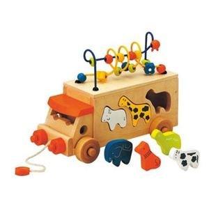 エドインター アニマルビーズバス 【つみき・木製玩具】