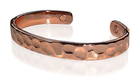 Magnetic Copper Cuff Bracelet 7.5 inches Long