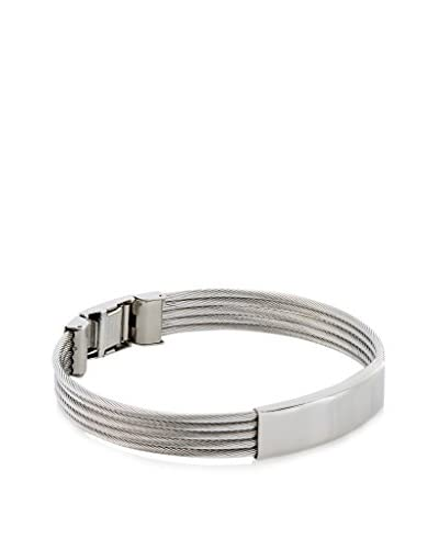 Stephen Oliver Silver Cable ID Bracelet