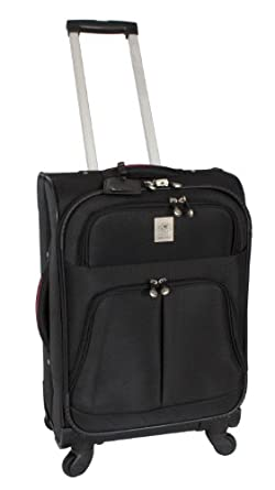 Jenni Chan Shanghai Collection 21 Inch 360 Quattro Upright Spinner, Black, One Size