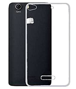 CZap Thin Clear Transparent TPU Silicone Soft Gel Case Back Cover for Micromax Canvas hue 2