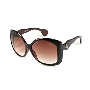 Edge I-Wear Women's Oversized Square Frame Plastic Sunglasses C895TT-AP(BROWN STRIPES)