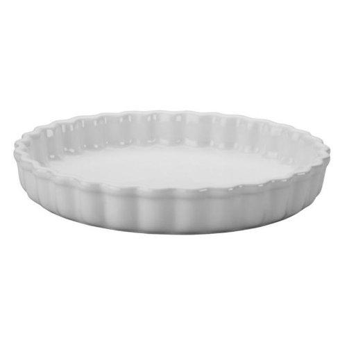 Le Creuset Stoneware 1-1/2-Quart Tart Dish, White