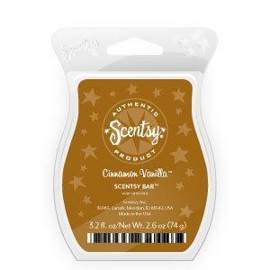 Scentsy, Cinnamon Vanilla, Wickless Candle Tart Warmer Wax 3.2 Fl Oz, 8 Square
